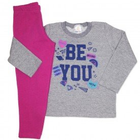 conjunto de moletom mescla be you com calca pink 154019