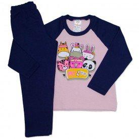 conjunto de moletom rosa bebe my zoo 154021