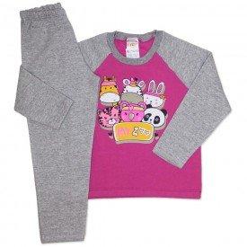 conjunto de moletom pink my zoo 154021