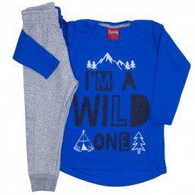 conjunto moletom blusao calca jogger azul palacio 4279