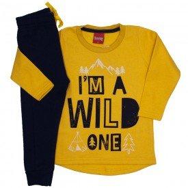 conjunto moletom blusao calca jogger amarelo 4279