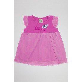 vestido rosa cerejeira em cotton com tule did 7526 ros 01