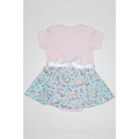 body rosa bebe com saia verde de unicornios e fita com laco com perolas e pedraria qui 1030082 rob 01