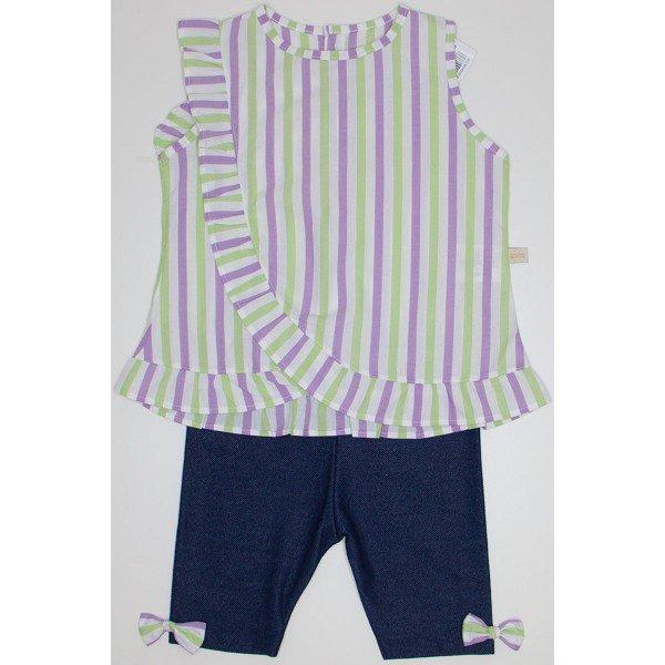 conjunto bata listrada lilas e capri jeans qui 1080023 lil 01