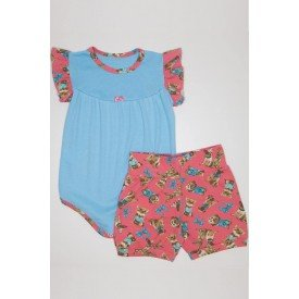 conjunto body com manga franzido azul medio e shorts com estampa qui 1080025 azm 01