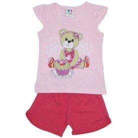conjunto menina rosa bebe com silk de ursinha e shorts wkd 175 rob 02
