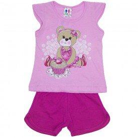 conjunto menina rosa com silk de ursinha e shorts wkd 175 ros 02
