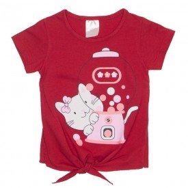 blusa meia malha vermelha de amarrar 1119