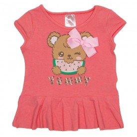 blusa de cotton rosa yummy com laco 1117