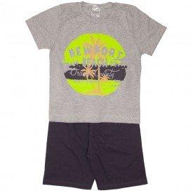 conjunto camiseta cinza e bermuda chumbo 1153