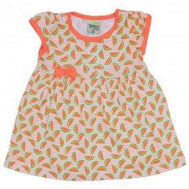 vestido laranja com estampa de melancia e laco did 7528 lar 01