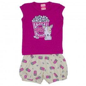 conjunto feminino babaloo cotton com shorts popcorn jak 7301 bab 01