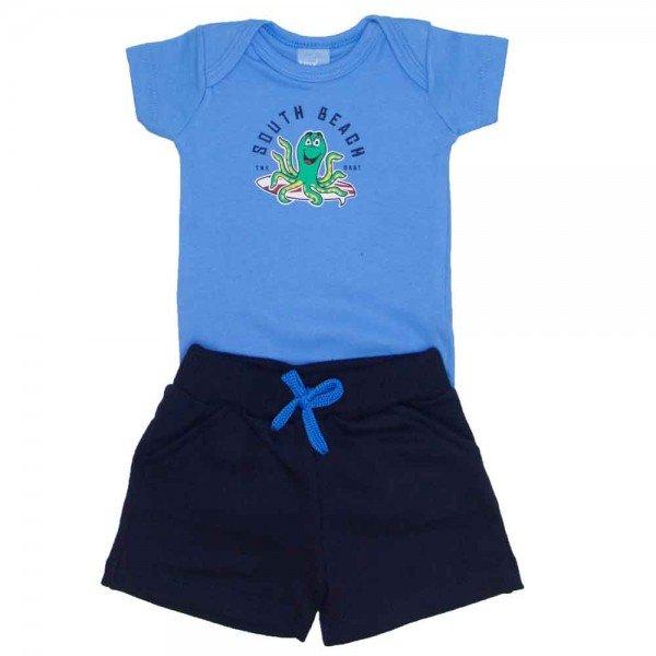conjunto menino bebe menino south beach baby azul 4033
