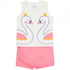 conjunto regata off e shorts saia rosa 1114