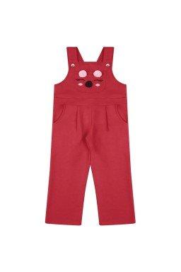 jardineira infantil menina coala vermelho 6554 7436