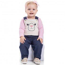 jardineira infantil bebe menina 7173 1 1