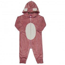 macacao bebe feminino plush pelo rosa velho 21002 7176
