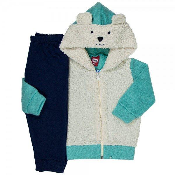 conjunto casaco soft pelo calca moletom 21016 7193