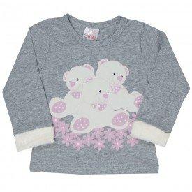 camiseta infantil menina 6455