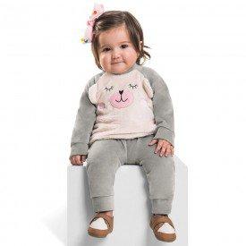 conjunto infantil bebe menina plush mescla 6387 7243