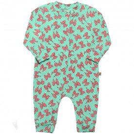 macacao infantil bebe menina lacinhos verde 6392 7250
