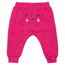calca infantil bebe menina saruel jet gatinha pink 6394 7253
