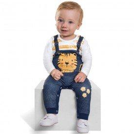 macacao infantil bebe menino tiger branco 6462 7268 1
