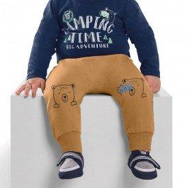 calca infantil bebe menino bear caramelo 6464 7271