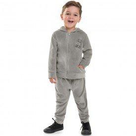 conjunto infantil menino lion plush navalhado cinza 6468 7276