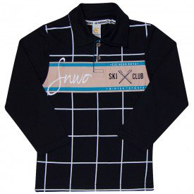 camiseta infantil polo menino 7798