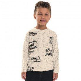 camiseta infantil menino brave off white 6497 7291