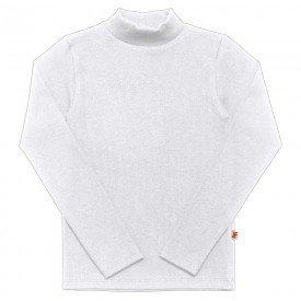 camiseta infantil basica ribana canelada unissex branca 1007 7299