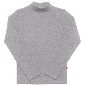camiseta infantil basica ribana canelada unissex mescla medio 1007 7301