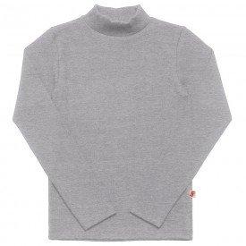 camiseta infantil basica ribana canelada unissex mescla medio 1007 7302