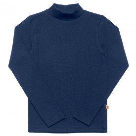 camiseta infantil basica ribana canelada unissex marinho 1007 7304