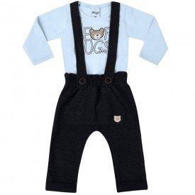 conjunto infantil bebe menino bear lavanda preto 6601 7447