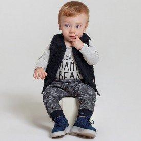 trijunto bebe menino de pelucia cool mescla medio preto 6602 7449