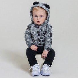 conjunto bebe menino soft urso cinza preto 6603 7452