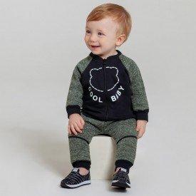 conjunto infantil bebe menino botone baby preto musgo 6605 7456 2