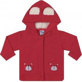 jaqueta infantil bebe menino microsoft bear vermelha 6606 7458