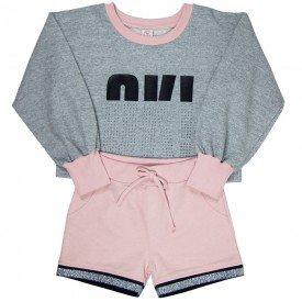 conjunto blusao infantil feminino 7885 186016