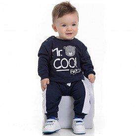 conjunto bebe masculino blusa e calca moletom marinho 4152 7028