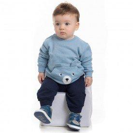 conjunto bebe masculino blusa moletom infinity e calca marinho 4153 7031