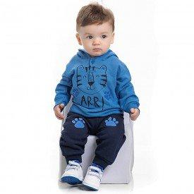 conjunto bebe masculino blusa azul palacio e calca marinho 4156 7040