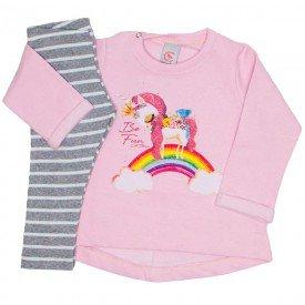 conjunto moletom rosa bebe e legging mescla listrada 15