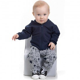 conjunto bebe masculino jaqueta mescla e calca marinho 4159 7049