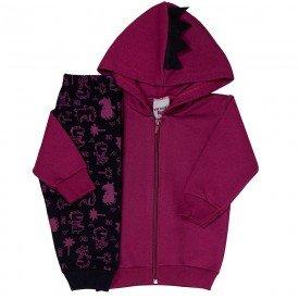 conjunto bebe masculino jaqueta bordo e calca preta 4159 7051