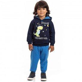 conjunto infantil masculino blusa moletom marinho e calca 4171 7085