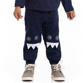 calca infantil masculina moletom marinho 4177 7103