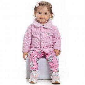 conjunto bebe feminino casaco matelasse sorvete e legging 4100 6900